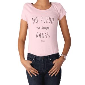 Polera Mujer Calambur 100% algodón Mensaje Divertido Estampado No Puedo Tengo Asado