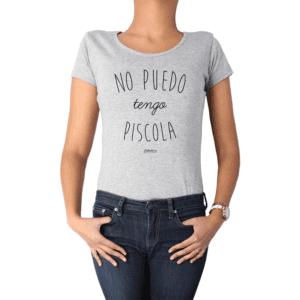 Polera Mujer Calambur 100% algodón Mensaje Divertido Estampado No Puedo Tengo Piscola
