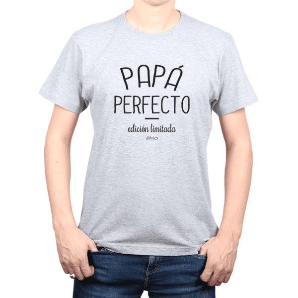Polera Hombre Calambur 100% algodón Mensaje Divertido Estampado Papá Perfecto