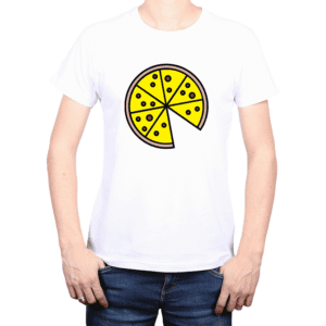 Polera Hombre Calambur 100% algodón Mensaje Divertido Estampado Pizza