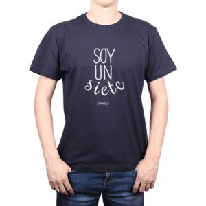 Polera Hombre Calambur 100% algodón Mensaje Divertido Estampado Soy Un Siete