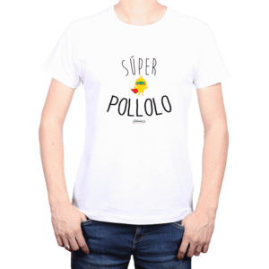 Polera Hombre Calambur 100% algodón Mensaje Divertido Estampado Súper Pollolo