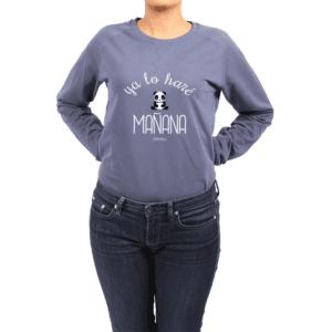 Polerón Mujer Calambur 100% algodón Mensaje Divertido Estampado Ya Lo Haré Mañana