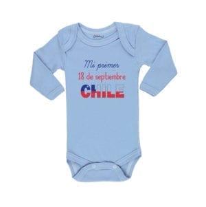 Ropa Bebe Body Calambur 100% algodón Moda Infantil Mi Primer 18 De Septiembre