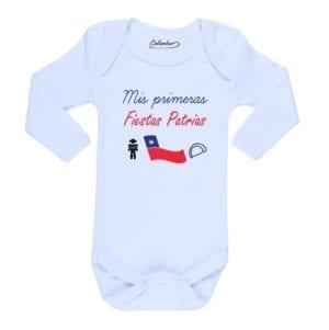 Ropa Bebe Body Calambur 100% algodón Moda Infantil Mis Primeras Fiestas Patrias