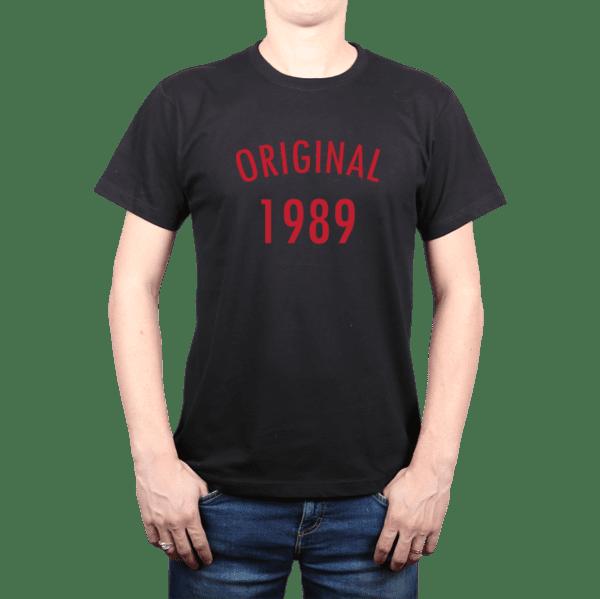 Diseña tu polera hombre 100% algodón Original personalizada con tu año de nacimiento
