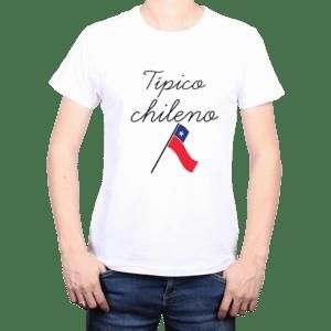 Polera Hombre Calambur 100% algodón Mensaje Divertido Estampado Típico Chileno