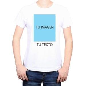 Diseña tu polera hombre 100% algodón personalizada con la imagen y el texto de tu gusto