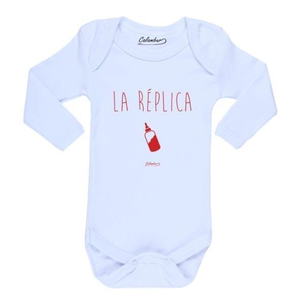 Body Pilucho Bebé Calambur 100% algodón diseño La Réplica Blanco