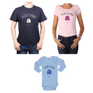 Conjunto Star Wars Papá, Mamá y Hijo Calambur 100% algodón Poleras y Body