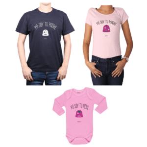 Conjunto Star Wars Papá, Mamá y Hija Calambur 100% algodón Poleras y Body