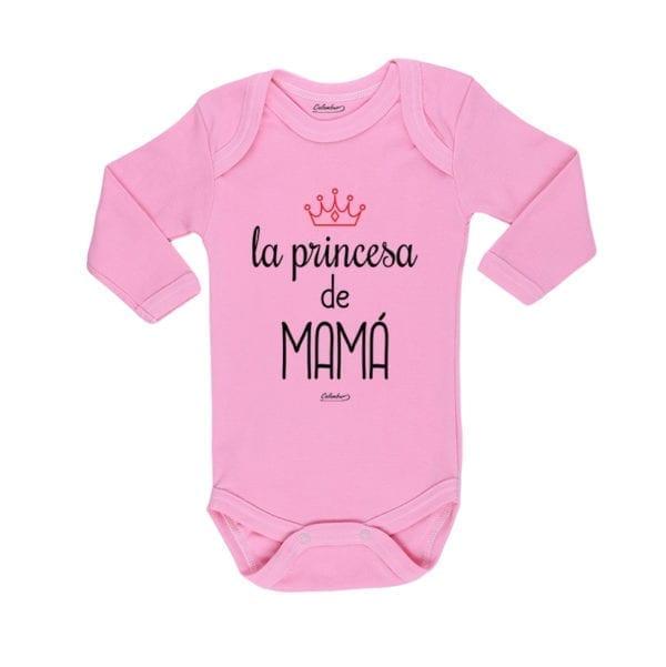 Body Pilucho Bebé Calambur 100% algodón diseño La Princesa de Mamá rosado