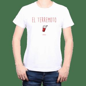 Polera Hombre Calambur 100% algodón diseño El Terremoto Blanco