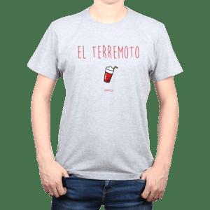 Polera Hombre Calambur 100% algodón diseño El Terremoto Gris