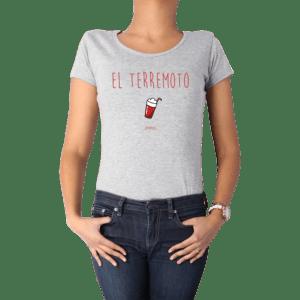 Polera Mujer Calambur 100% algodón diseño El Terremoto Gris