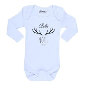 Body Pilucho Bebé Calambur 100% algodón diseño Bebé Noel blanco