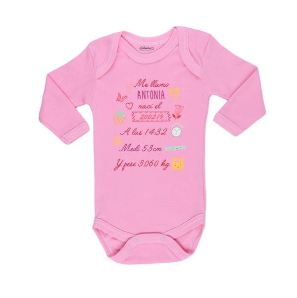 Body Pilucho Bebé Calambur 100% algodón diseño body nacimiento niña rosado
