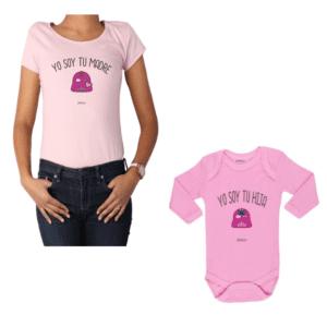 Conjunto Star Wars Mamá y Hija Calambur 100% algodón Polera y Body