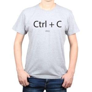 Polera Hombre Calambur 100% algodón diseño CTRL C gris