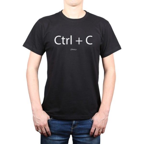 Polera Hombre Calambur 100% algodón diseño CTRL C negro