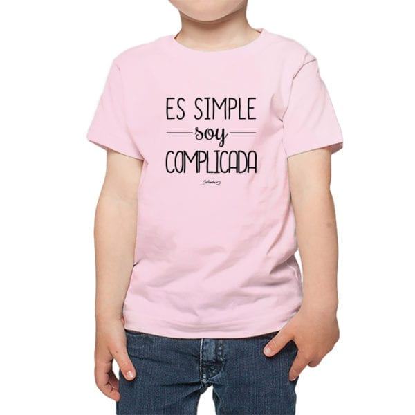 Calambur 100% algodón diseño es simple soy complicada rosado