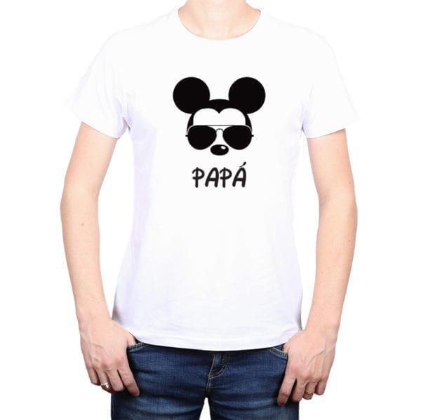 Polera Hombre Calambur 100% algodón diseño Mickey blanco