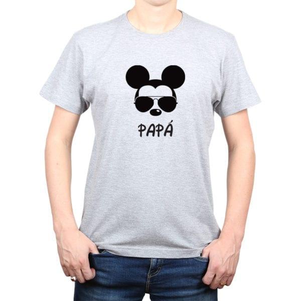 Polera Hombre Calambur 100% algodón diseño Mickey gris