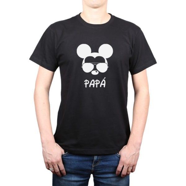 Polera Hombre Calambur 100% algodón diseño Mickey negro