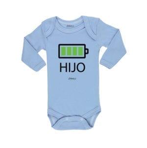 Body Pilucho Bebé Calambur 100% algodón diseño Hijo celeste