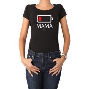 Polera Mujer Calambur 100% algodón diseño Batería negro