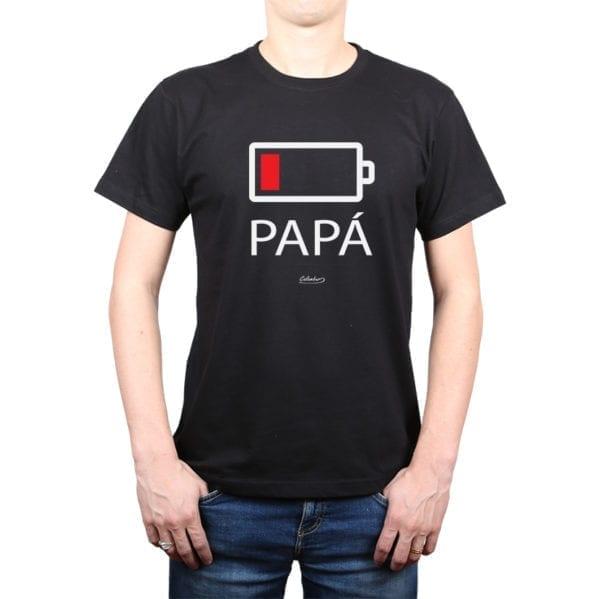 Polera Hombre Calambur 100% algodón diseño Batería negro