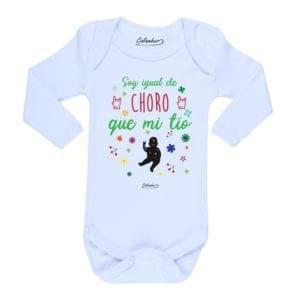 Body Pilucho Bebé Calambur 100% algodón diseño soy igual de choro que mi tío blanco