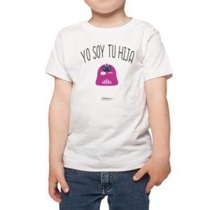 Calambur 100% algodón diseño yo soy tu hija blanco