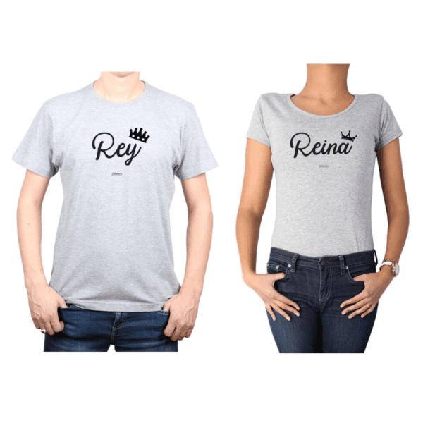 Conjunto Pareja Hombre Mujer 100% algodón Calambur diseño Rey Reina