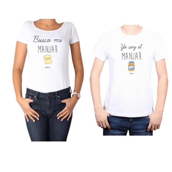 Conjunto Pareja Hombre Mujer 100% algodón Calambur diseño Manjar