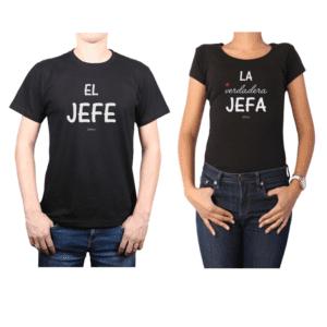 Conjunto Pareja Hombre Mujer 100% algodón Calambur diseño Jefe Jefa
