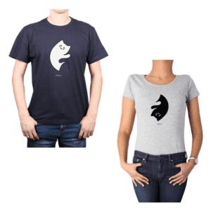 Conjunto Pareja Hombre Mujer 100% algodón Calambur diseño Yin Yang