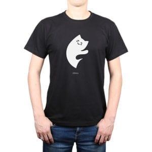 Polera Hombre Calambur 100% algodón diseño Yin Yang negro