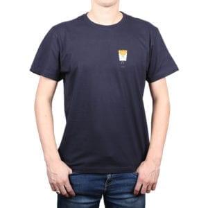 Polera hombre Calambur 100% algodón diseño Papas azul marino