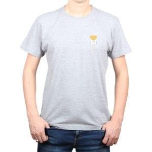 Polera hombre Calambur 100% algodón diseño Papas gris