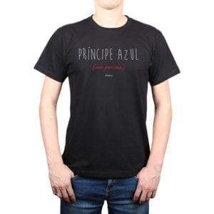 Polera Hombre Calambur 100% algodón diseño Príncipe Azul negro