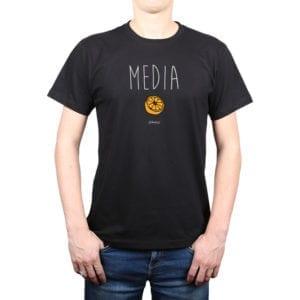 Polera Hombre Calambur 100% algodón diseño Media negro