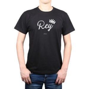 Polera Hombre Calambur 100% algodón diseño Rey negro