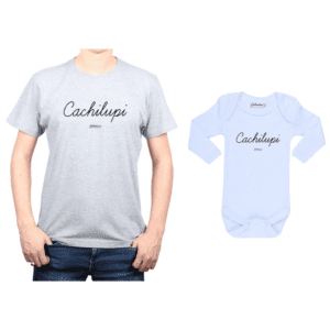 Conjunto Cachilupi Polera y Body Calambur 100% algodón modelo Papá Bebé