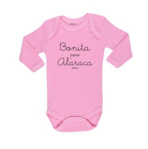 Body Bebé Calambur 100% algodón diseño Pizza rosado