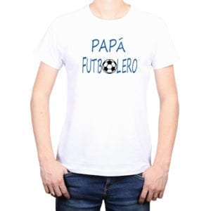 Polera Hombre Calambur 100% algodón diseño Papá Futbolero