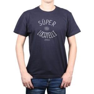 Polera Hombre Calambur 100% algodón diseño Súper Locatelli Azul Marino