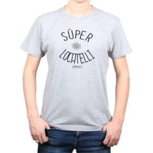 Polera Hombre Calambur 100% algodón diseño Súper Locatelli Gris