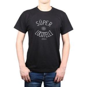 Polera Hombre Calambur 100% algodón diseño Súper Locatelli Negro