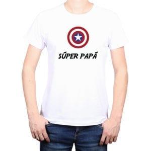 Polera Hombre Calambur 100% algodón diseño Súper Papá